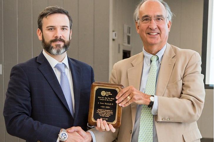 South Carolina Bar recognizes J. Scott Bischoff II with Pro Bono Award